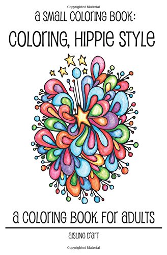 Small Coloring Book Hippie Style