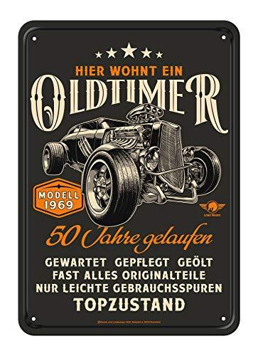 50 Geburtstag Oldtimer Blechschild