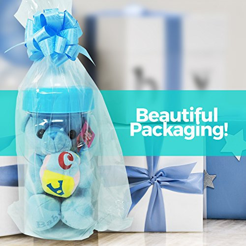Cute Baby Shower Gift Bundle - Bright Blue Color for Baby Boy