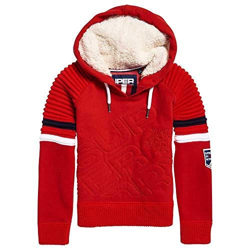 Diagonal Hoodies Superdry Sports Sweatshirts Hood Female Red Winter And S 7qgxpEwpX