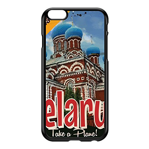 Belarus Coque Rigide Plastique Noire Snap-On Protection Arrière pour iPhone 6 Plus de Nick Greenaway + Livré avec une protection d'écran GRATUITE