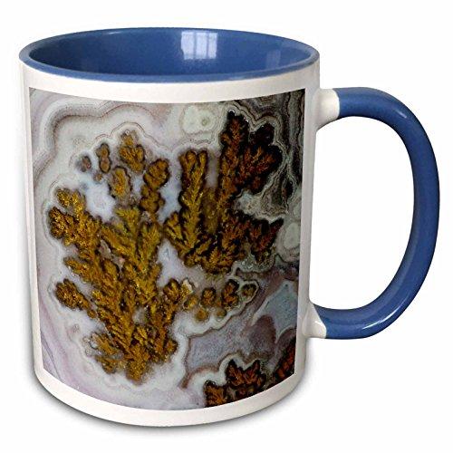 3dRose Danita Delimont - Rocks - Plume Agate, Quartzsite - 15oz Two-Tone Blue Mug (mug_229634_11)