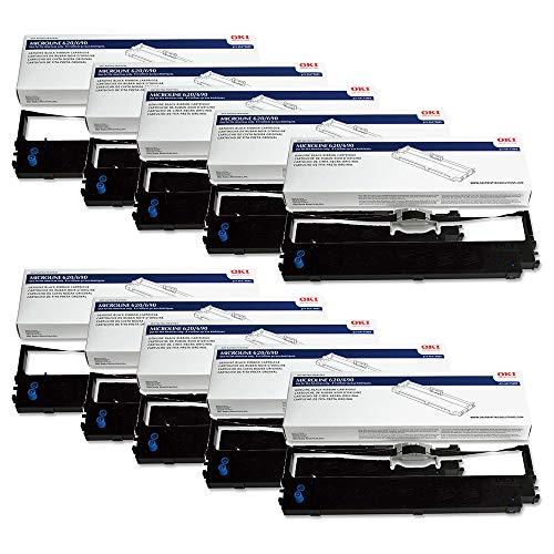 Wholesale CASE of 10 - Oki Data 44173403 Printer Ribbon-Ribbon, Nylon, ML620/690 Up To 8M, Black by OKI