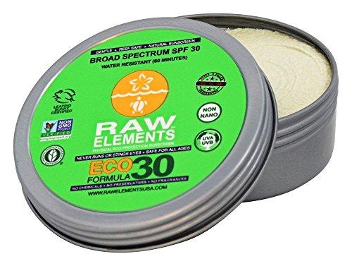 Raw Elements: Eco Formula Broad Spectrum, Water Resitant SPF 30+ Lotion, 3 oz