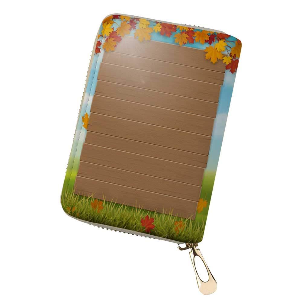 Credit Card Holder Wallets Winter squash illus for Ladies Girls//Gift Box