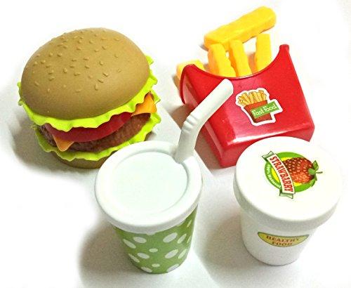 Asian 108 Markets Burger Fries Kid Pretend Play Food Assortment Toy Set - TOY-FOOD-BURGER-V2 -