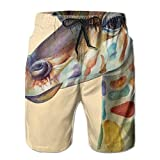 Giraffe Africa Wild Zoo Newest Men's Workout&swim Trunks Quick Dry Board Shorts With Pockets Summer