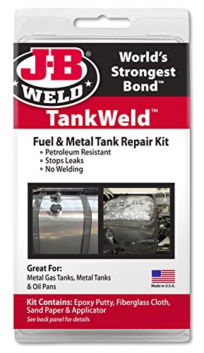 J-B Weld 2110 Metal Fuel Tank Repair Kit Gas Tank Leak Repair
