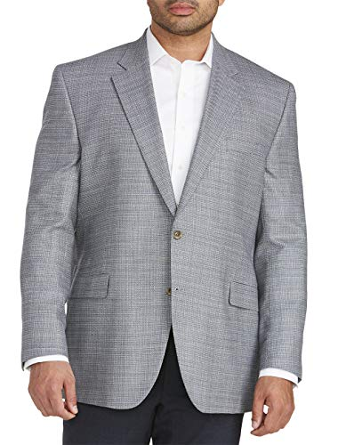 Jack Victor Big and Tall Solid Textured Sport Coat Navy