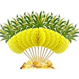 BTSD-home 3D Pineapple Cupcakes Party Supplies Toppers Food Picks Party Cocktail Tropical Cupcake Picks Decoration(50 Pack)