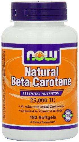 Now Foods Nat Beta Carotene 25000, Soft-gels, 180-Count