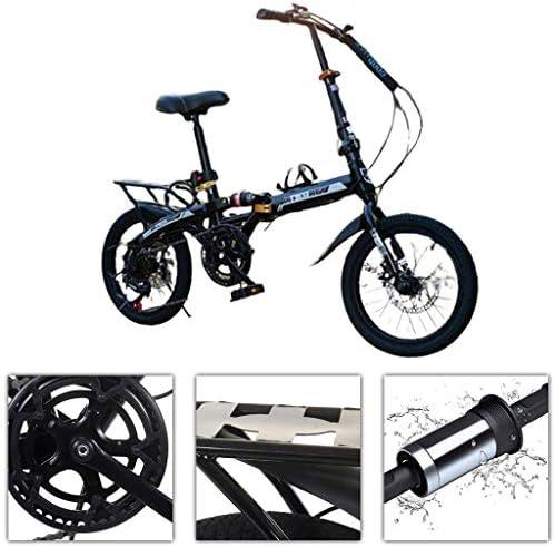 MビスMTB自転車ディスクUltraportabilityサイクリング学生に固体と耐久性のある自転車都市バイクをシフトする自転車折りたたみ自転車 (Color : Black, Size : 150*35*107cm)