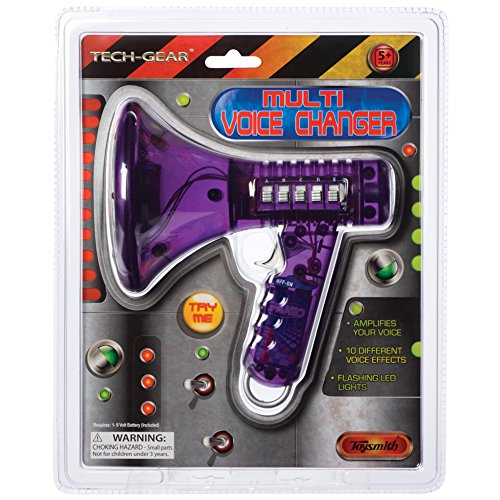 Toysmith Tech Gear Multi Voice Changer (6.5-Inch Various Colors) (Best Girl Voice Changer)