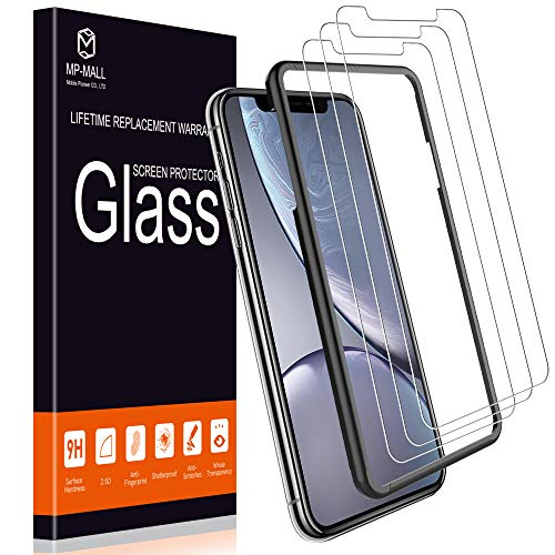 - MP-MALL Screen Protector for iPhone XR, [3-Pack] [Tempered Glass] [Alignment Frame Easy Installation] with Lifetime Replacement Warranty