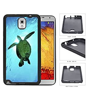 Beautiful Green Sea Turtle Swimming in Bright Blue Ocean Water Hard Rubber TPU Phone Case Cover Samsung Galaxy Note 3 N9000