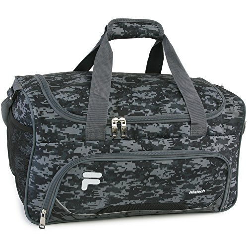 Fila Source Sm Travel Gym Sport Duffel Bag, Black Digi Camo