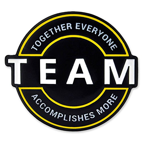 PinMart Motivational Team Together Everyone Accomplishes More Enamel Lapel Pin