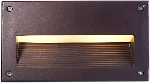 SYMX Luces de Esquina LED Escalera empotrada de Aluminio Escalera de Paso Personalidad Impermeable Cuadrado Negro Faroles Sendero de jardín Lámparas de Pared Porche Moderno Lámpara de Camino Interior: Amazon.es: Hogar