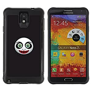 ZAAAZ Rugged Armor Slim Protection Case Cover Durable Shell - Evil Mask Face - Samsung Note 3