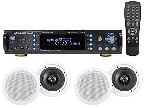 4 commercial ceiling speaker system