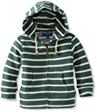 Andy & Evan Baby-Boys Infant Little-Gents-In-The-Hood Zip Up, Green, 6-12 Months image