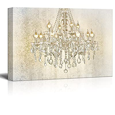 Chandelier on Vintage Background - Canvas Art Wall Art - 12