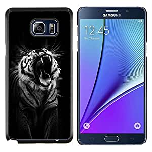 Dragon Case - FOR Samsung Note 5 N9200 N920 - tiger black roar yawn sleepy big cat - Caja protectora de pl??stico duro de la cubierta Dise?¡Ào Slim Fit