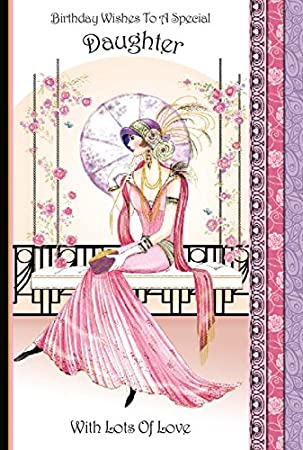 Art Deco Lady Birthday Wishes To A Special Daughter Birthday