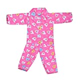 MonkeyJack Lovely Bear Printed Pajamas Nightgown Shirt Pants Outfit for 18'' American Girl Zapf Baby Born My Life Journey Dolls Accessories
