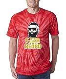 """The Silo TIE DYE RED Houston Harden """"Fear the Beard"""" T-Shirt"""