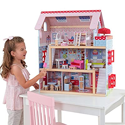 KidKraft Chelsea Doll Cottage with Furniture: Toys & Games
