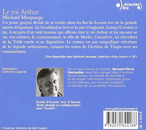 resume du roi arthur de michael morpurgo folio junior