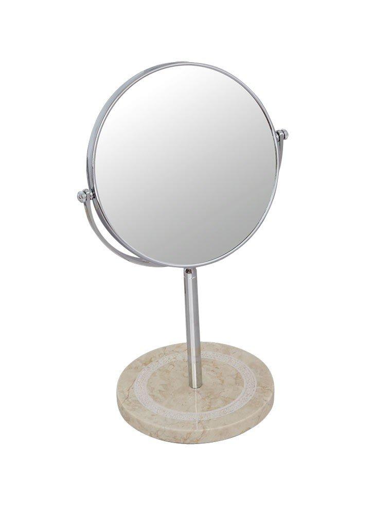 Nicol 624812.0 Julia Miroir cosmétique – Ecran Miroir sur pied grossissant 3 - métal - chrome - 15.0 x 23.0 x 38 -5 cm