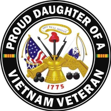 Amazon Com Us Army Proud Daughter Of A Vietnam Veteran Decal