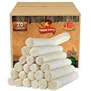 Cowdog Chews Retriever Roll 9-10 inches (20 Pack) Dog Treat Chew - Large and Medium Dogs FDA/USDA Approved