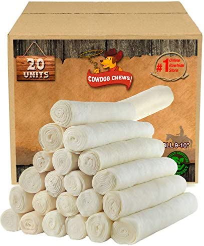 Retriever roll 9-10 20 Pack All Natural Rawhide Product