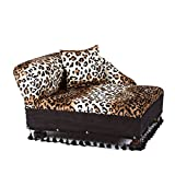 Mini Chaise Leopard Pet Bed