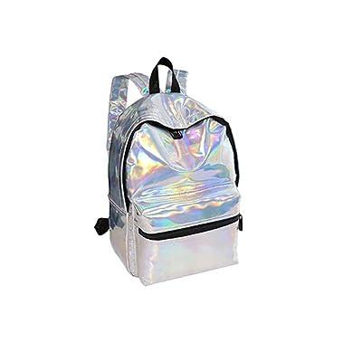 80%OFF Girl Holographic Laser Hologram Backpack Bling Glitter Casual  Satchel School Bag Daypack Travel. chic Laptop ... 43680c5bec