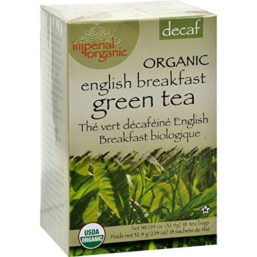 Uncle Lees Imperial Organic Decaffeinated English Breakfast Green Tea - 18 Tea Bags (Pack of 2)