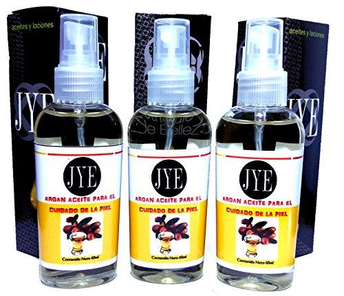 3 Frascos Aceite Argan 100% Puro Marruecos Oro Liquido