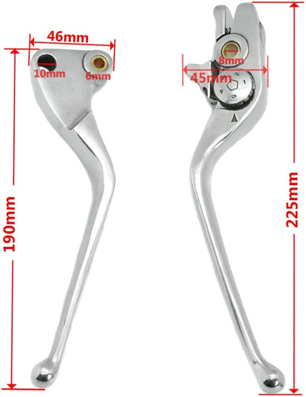 Lefossi Motorcycle Replacement Brake Clutch Hand Lever Sets Pairs ...