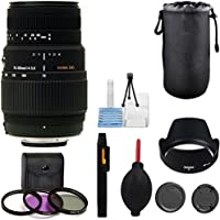 Sigma 70-300mm f/4-5.6 SLD DG Lens+ 9pc Bundle - International Version