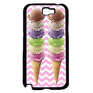 Ice Cream Cones Plastic Phone Case Back Cover Samsung Galaxy Note II 2 N7100