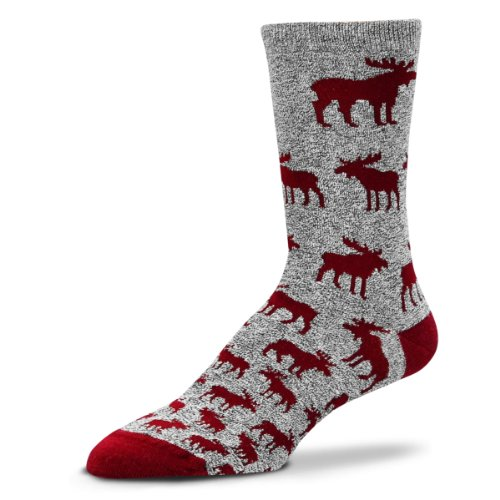 Bare Feet Novelty Socks Moose Descending Ladies - Descending Bear