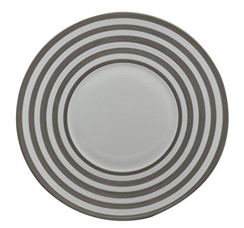 12 Chop Plate Round Platter - J.L. Coquet Hemisphere Platinum Stripe 12
