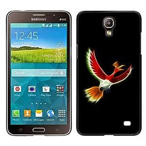 // PHONE CASE GIFT // Duro Estuche protector PC Cáscara Plástico Carcasa Funda Hard Protective Case for Samsung Galaxy Mega 2 / Mystical Red Bird /