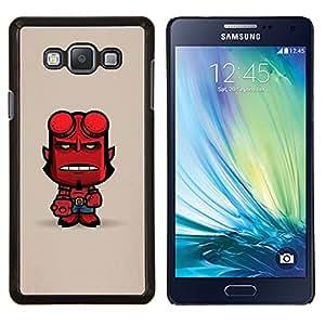 LECELL--Funda protectora / Cubierta / Piel For Samsung Galaxy A7 A7000 -- Cuernos del diablo carácter lindo infierno hombre --