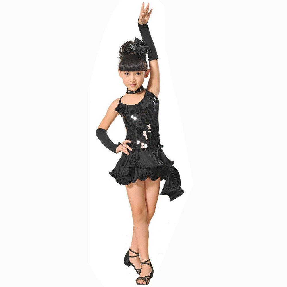 Topgrowth Vestito Ballo Bambina Ragazze Latino Danza Abito Lustrino Gonna Principessa Abiti Danza Costumi Bambini 2-13 Anni CQQ80308342