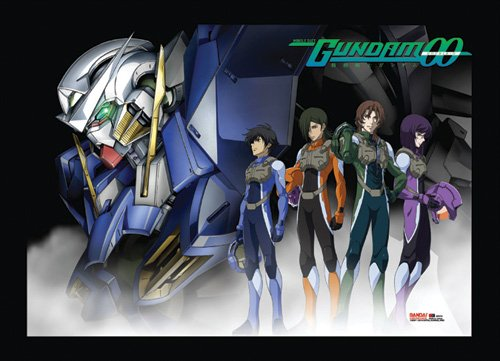 Great Eastern Entertainment Gundam 00 Exia and Pilots Wall Scroll, 33 by 44-Inch (00 Wall)