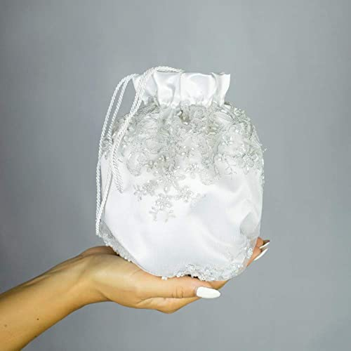 Bolso saten strass novia boda blanco bag bolsa regalo boda ...